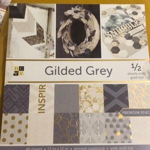 NWT Golded Gray Premium Cardstock Stack